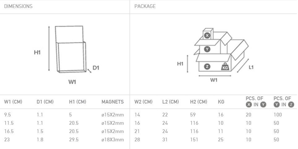 Brochure holder magnetic-6
